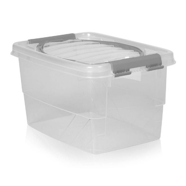 Clear Plastic Clip Lid Bread Loaf Container